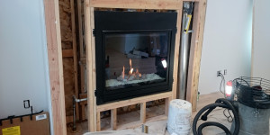 Installation of a gas burning fireplace