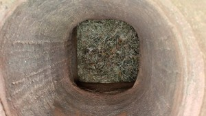 Huge nest in chimney causing a blockage