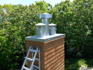 New custom stainless steel chase top and cap installation